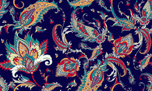 Seamless Pattern With Beautiful Paisley