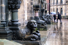 Sphinx And Griffin Statue In F...