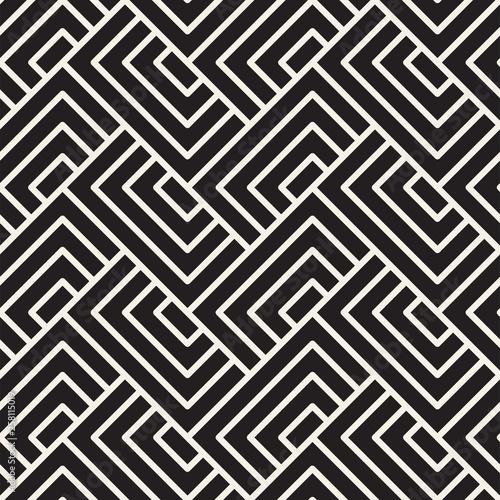Fototapeten Künstlich Vector seamless pattern. Stylish linear background. Trendy geometric texture.