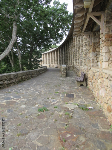 Photo  View of old cobblestone architecture from the 1930s in Rocky Neck State Park in