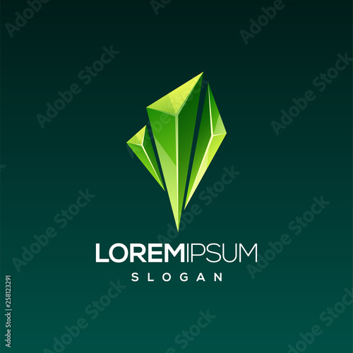 Fotomural emerald gem logo design
