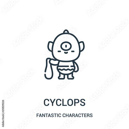 cyclops icon vector from fantastic characters collection Canvas Print