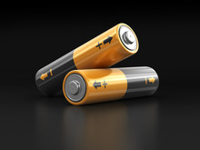 Batteries. Image With Clipping Path