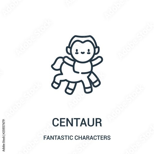 centaur icon vector from fantastic characters collection