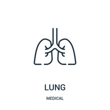 Lung Icon Vector From Medical ...