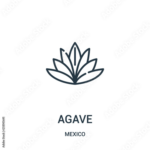 agave icon vector from mexico collection Wallpaper Mural