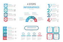 4 Steps - Infographic Templates