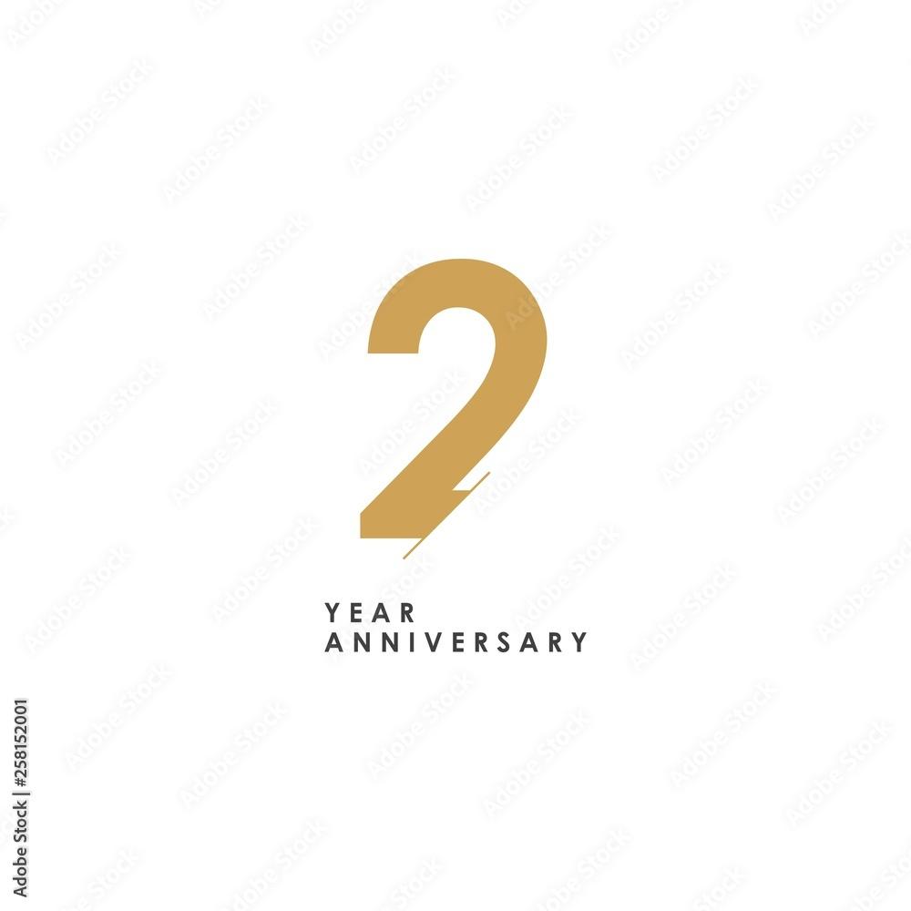 Fototapeta 2 year Anniversary Logo Vector Template Design Illustration