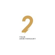 2 Year Anniversary Logo Vector...