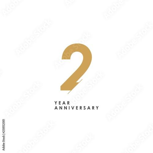 2 year Anniversary Logo Vector Template Design Illustration