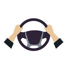 Steering Wheel In The Hands Of...