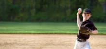 Youth Baseball Pitcher Panorama