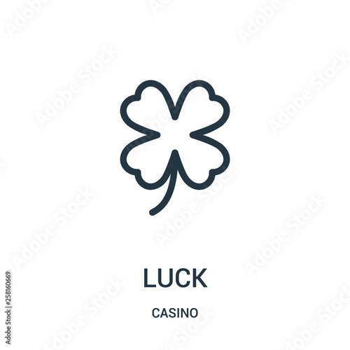 Fotografía  luck icon vector from casino collection