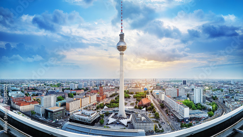 Poster Berlin panoramic view at the city center of berlin
