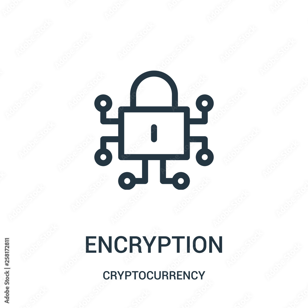 Fotografie, Obraz encryption icon vector from cryptocurrency collection