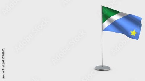 Fotografija  Mato Grosso Do Sul 3D waving flag illustration.