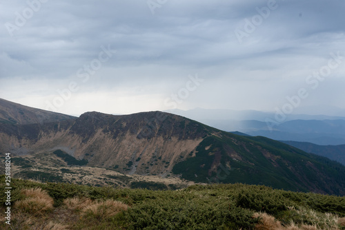 Fotografie, Obraz  Beauty of the Carpathian Mountains. View from the height.