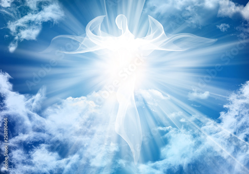 Photo Illustration abstract white angel