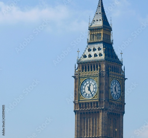 Beautiful London seen during a city tour along thames river and famous architect Canvas Print