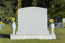 Blank Tombstone In Cemetery