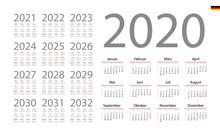 German Calendar For 2020. Week...