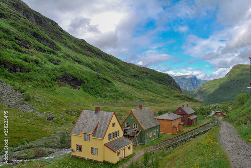 Photo Stands South America Country House and Home along the Flam Train trail in Norway