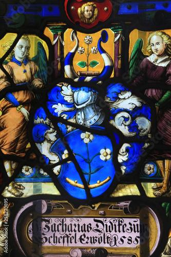 Vitrail héraldique aux armes de Zacharies Didike Canvas Print