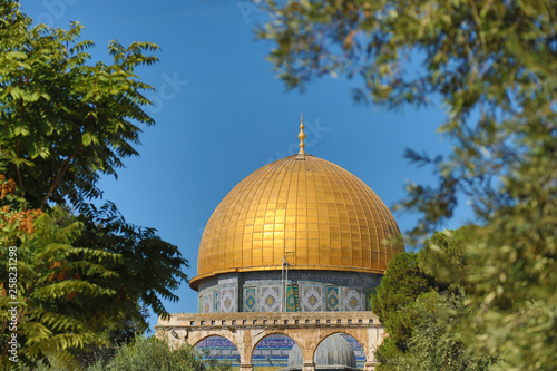 Fotografia  The Temple Mount Dome of the Rock Jerusalem, Israel