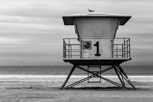 California Lifegaurd Shack At Oceanside