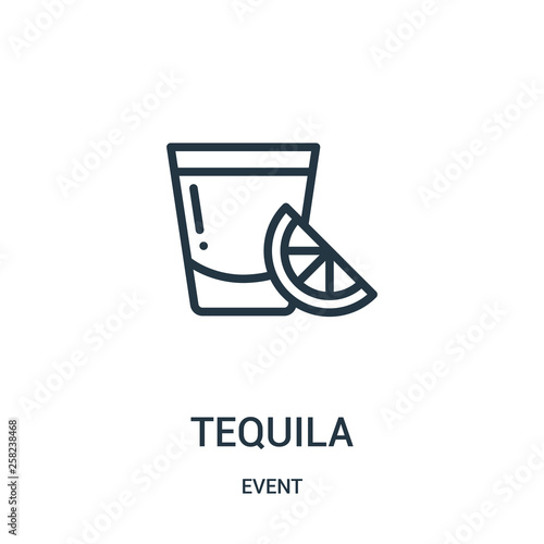 Canvas Print tequila icon vector from event collection