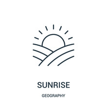 Sunrise Icon Vector From Geogr...