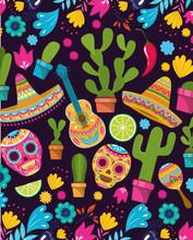 Cinco De Mayo Pattern Background