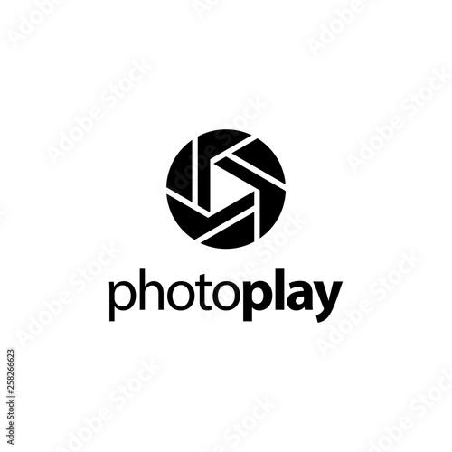 Fototapeta photo play logo concept obraz na płótnie