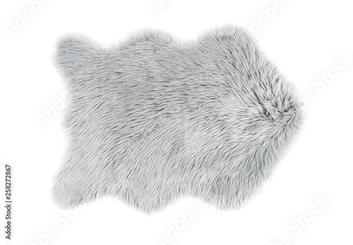 Leinwand Poster Fluffy carpet on white background