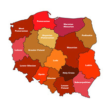 Simplified Map Of Poland With ...