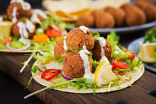 Tortilla Wrap With Falafel And...