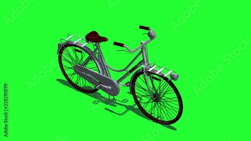 Aluminium Prints Bicycle Bicycle - isolated on green screen