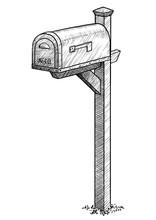 Mailbox Illustration, Drawing,...