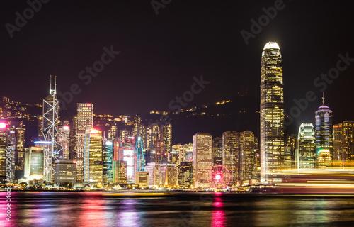 香港 ビクトリア・ハーバー 夜景 Canvas Print