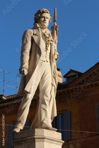 Photo  Modena, Emilia Romagna, Italy, Piazza Roma and Ciro menotti monument