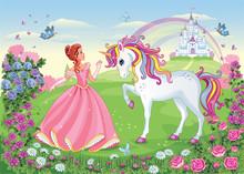 Beautiful Princess And White U...