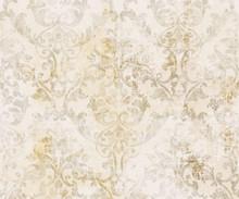 Rococo Texture Pattern Vector. Floral Ornament Decoration. Victorian Engraved Retro Design. Vintage Grunge Fabric Decors. Luxury Fabrics