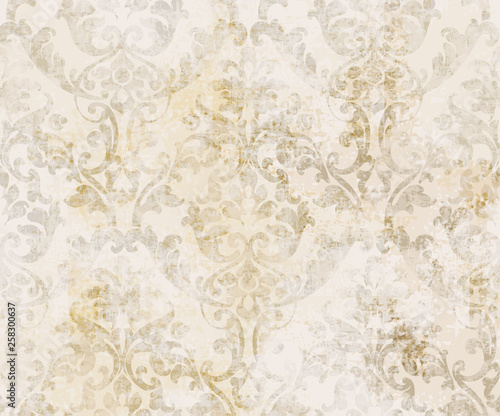 Plakaty beżowe  rococo-texture-pattern-vector-floral-ornament-decoration-victorian-engraved-retro-design-vintage-grunge-fabric-decors-luxury-fabrics