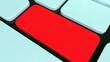 Computertastatur, leere rote Entertaste für Ihre Nachricht
