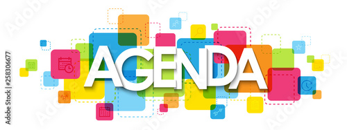 AGENDA colorful typography banner