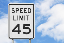 US 45 Mph Speed Limit Sign
