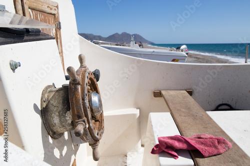 Old boat Cabo de Gata beach in Almeria Andalusia Spain Wallpaper Mural