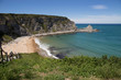 Langre beach in Cantabria Spain