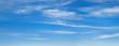 canvas print picture - Blauer Himmel mit leichter Bewölkung