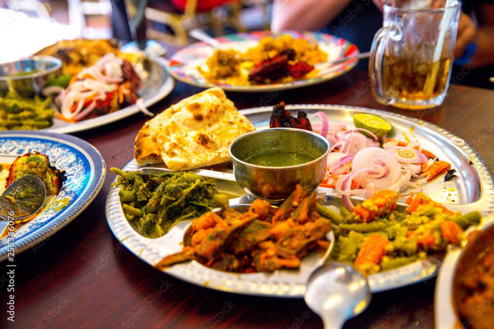 Fototapeta Very delicious Indian Food. Restaurant in Kuala Lumpur